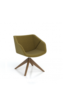 Isotta Soft Armchair - Swivel Pyramid Timber