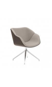 Isotta Wood Soft Armchair - Swivel Pyramid