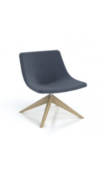 Skoop Plus Soft Chair - Low Back Swivel Timber