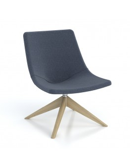 Skoop Plus Soft Chair - High Back Swivel Pyramid Timber