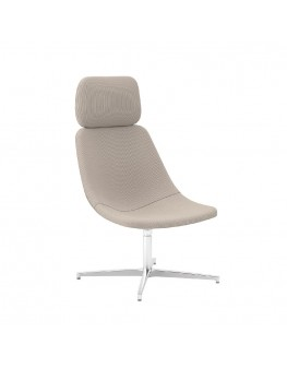 Skoop Plus Soft Chair - High Back Swivel w Head Rest
