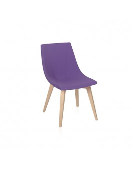 Skoop Soft Chair - Visitor 4 Leg Timber