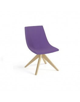 Skoop Soft Chair - Visitor Swivel Timber