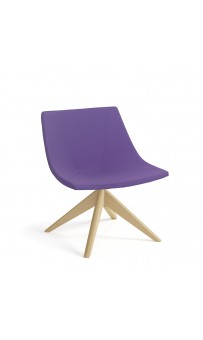 Skoop Soft Chair - Low Back Swivel Pyramid Timber