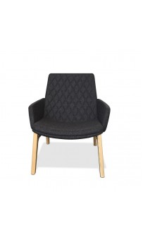 Mister Soft Armchair - Low Back 4 Leg Timber