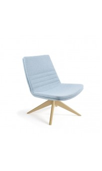 Mister Soft Chair - Low Back Swivel Pyramid Timber