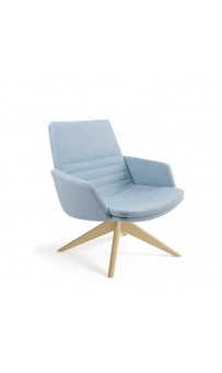 Mister Soft Armchair - Low Back Swivel Pyramid Timber