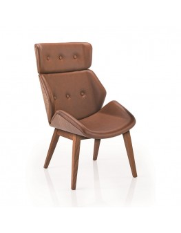 Skara Soft Chair - High Back 4 Leg Timber