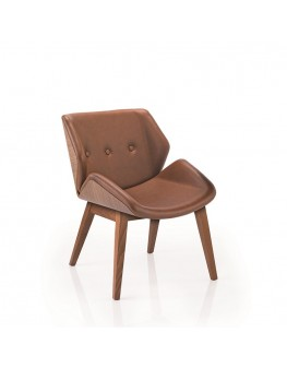 Skara Soft Chair - Low Back 4 Leg Timber