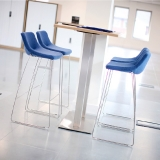 Skoop Soft Bar Stool (750mm) - Sled