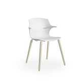 Frill Armchair - 4 Leg Timber