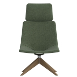 Skoop Plus Soft Chair - High Back w Head Rest Swivel Pyramid Timber
