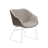 Isotta Wood Soft Armchair - Sled