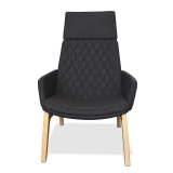 Mister Soft Armchair - High Back 4 Leg Timber