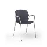 No-Frill Armchair - 4 Leg Loop Arm